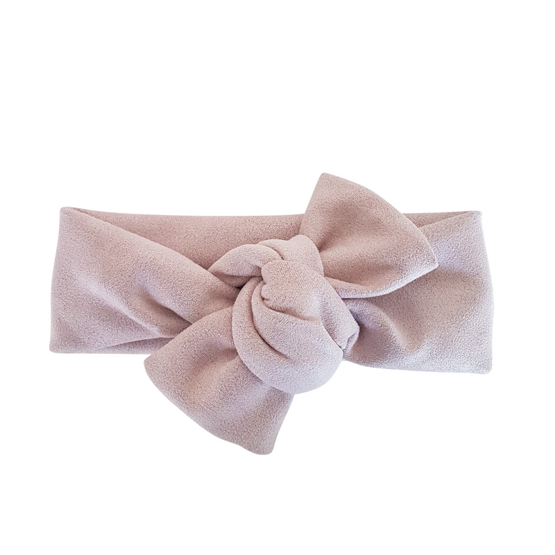 Knot Bow Headwrap - Lilac Suede