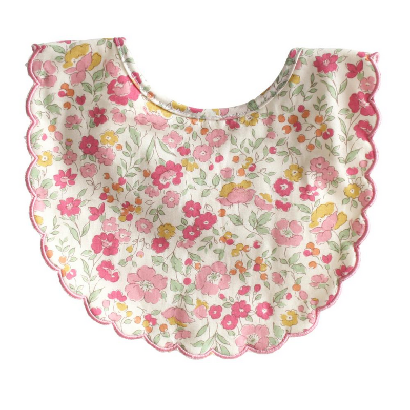 SCALLOP BIB - ROSE GARDEN