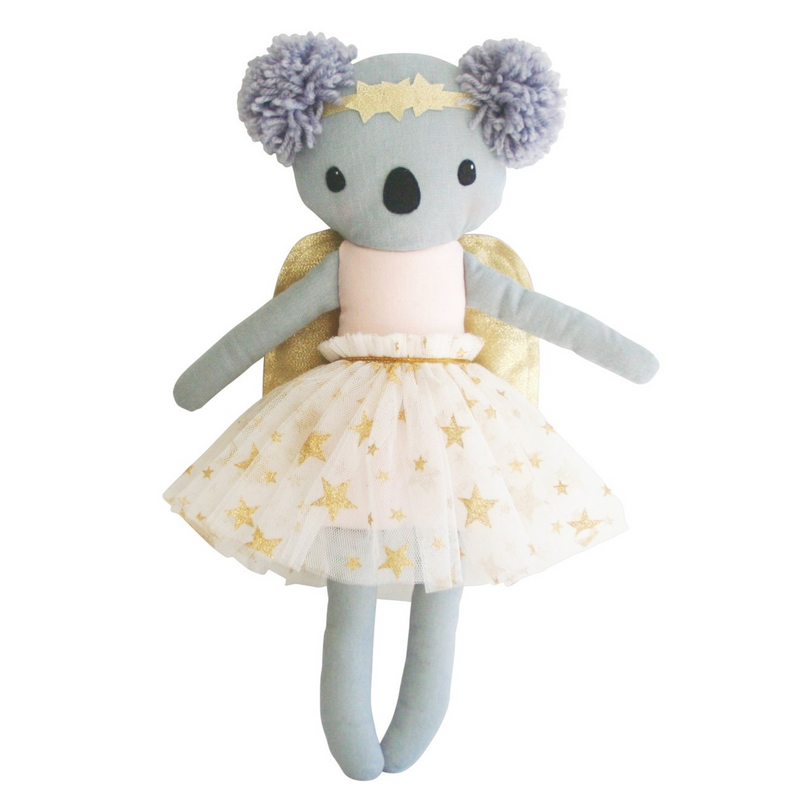 BABY KOALA ANGEL PINK 25CM -  GOLD