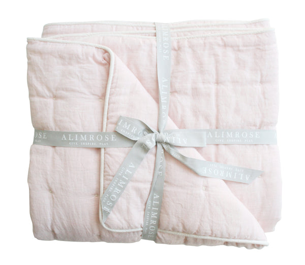 CLOUD SOFT QUILT - PETAL PINK