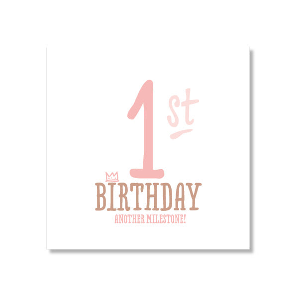 Mini Gift Card - 1st Birthday Pink