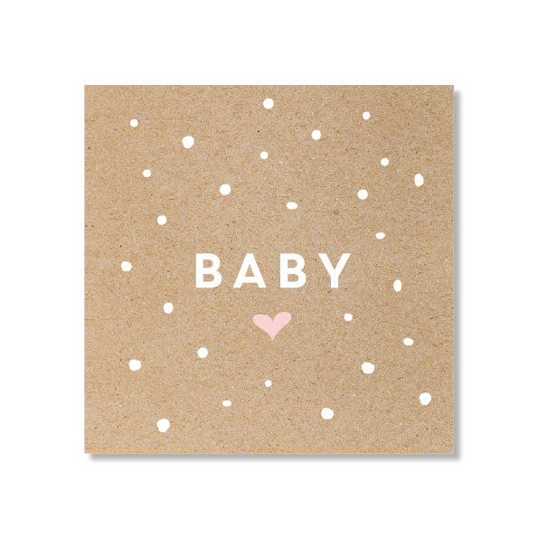 Mini Gift Card - Baby Confetti Pink