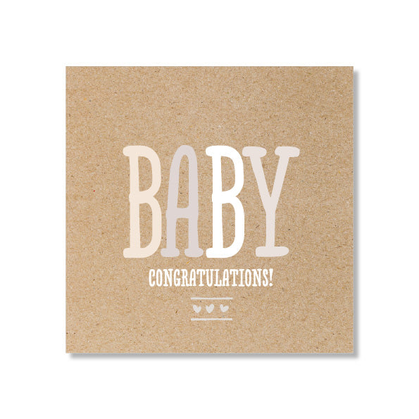 Mini Gift Card - Baby Kraft Letters