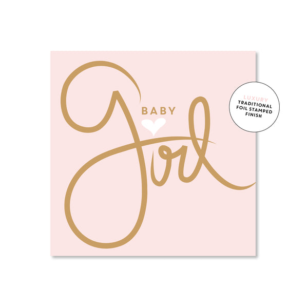 Mini Gift Card - Baby Script Pink