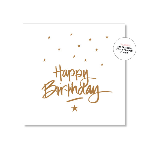 Mini Gift Card - Happy Birthday Script