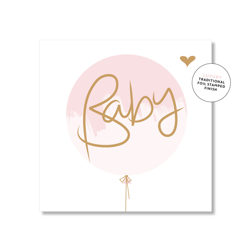 Mini Gift Card - Baby Pink Balloon