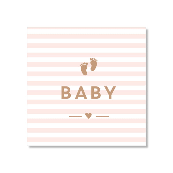 Mini Gift Card - Baby Pink Stripes