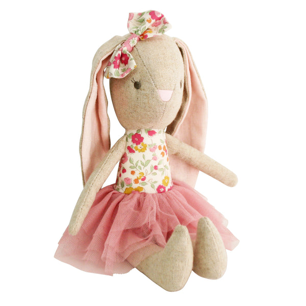 LINEN BABY PEARL TOY 26CM - BLUSH