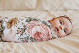 SWADDLE GARDEN FLORAL WHITE