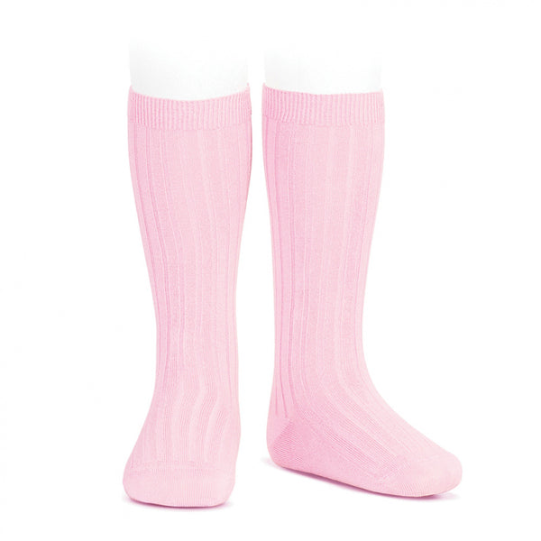 CONDOR RIB KNEE HIGH SOCKS - BALLET PINK