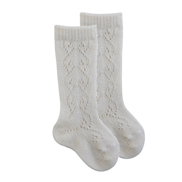 CONDOR WOOL OPENWORK KNEE HIGH SOCKS (3 COLOURS AVAILABLE)