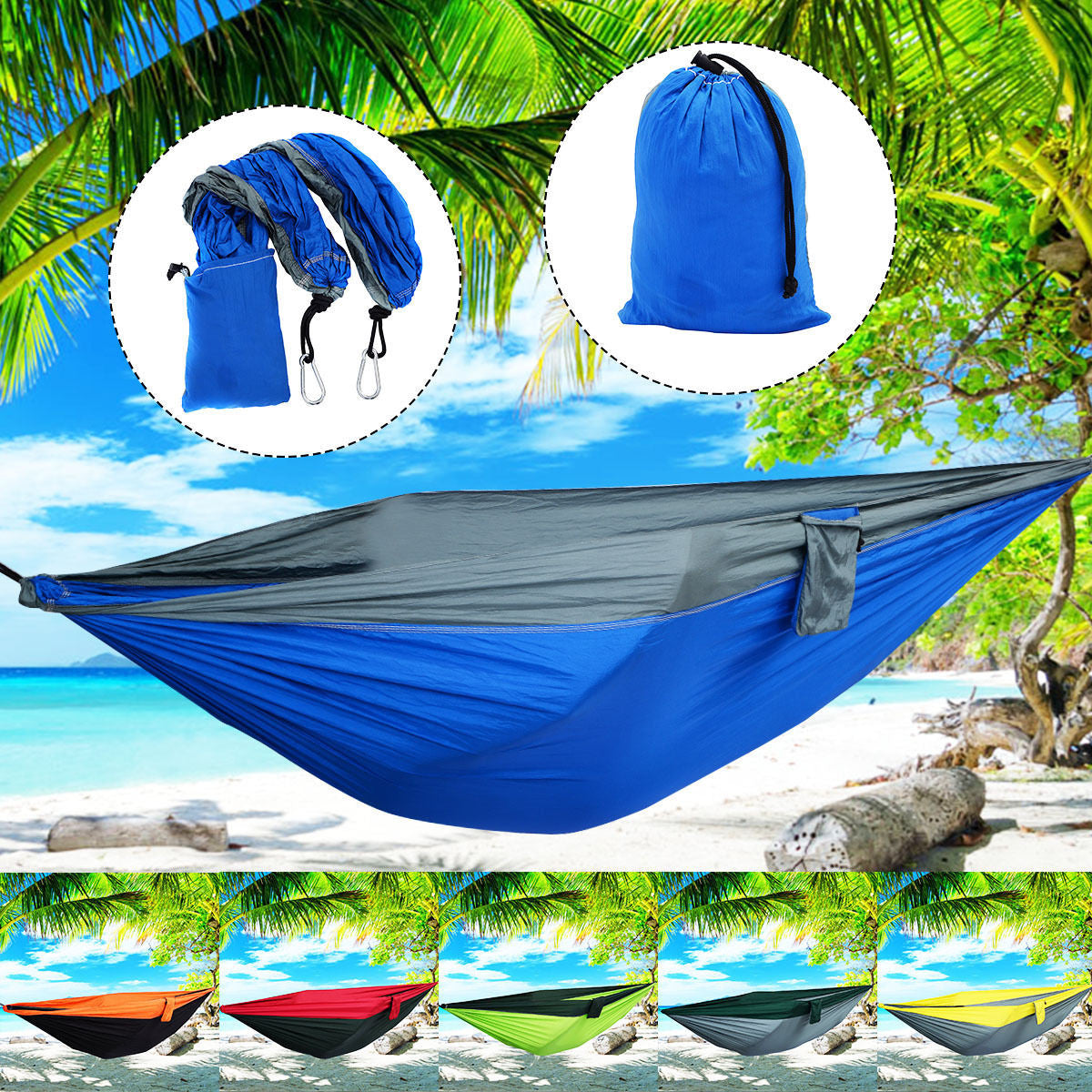 pp person nylon fabric color free and double parachute hammock bags sleeping assorted