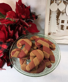 Peanut Butter Candy Cane Cookies