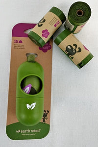 Earth Rated Dog Poop Bag dispenser and refills