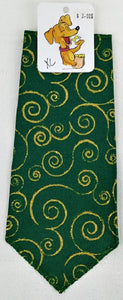 Green / Gold Swirl Bandana