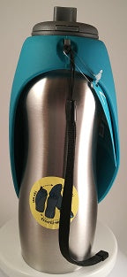 Messy Mutts Stainless Steel Travel Water Bottle/Bowl