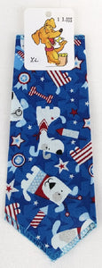 Bandana - Patriotic Pups Blue