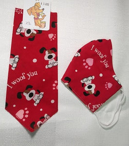 I WOOF YOU - FUN HOOMAN 'MUZZLE' and PUP SCARF COMBO!