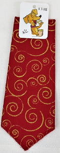 Red / Gold Swirl bandana