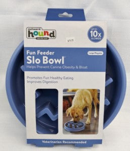Outward Hound Slo Bowl Blue