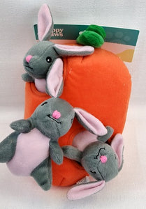 Zippy Paws Easter Carrot and Bunnies Burrow