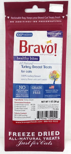 Bravo Freeze-dried Healthy Bites Turkey Breast treats