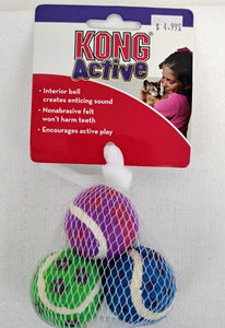 Kong Active Cat Tennis Balls with Bells