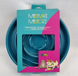 Messy Mutts Slow Bowl Small Teal