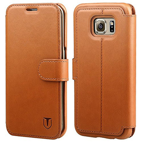 Galaxy S6 Edge Case - Light Brown