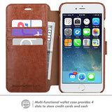 TANNC iPhone 8 Plus Wallet Case, iPhone 7 Plus Case, Flip Leather Phone Case [Screen Protector Included] [Layered Dandy] [Card Slot] [Kickstand] - for iPhone 8 Plus and iPhone 7 Plus - Brown