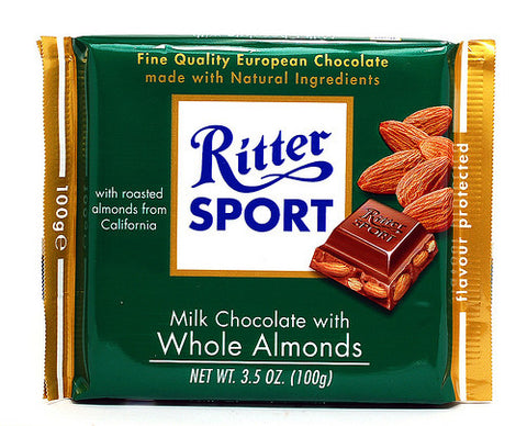 Ritter Milk Chocolate w/ Whole Almonds