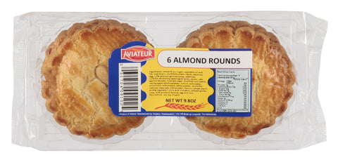 Aviateur Almond Rounds - 6 pieces