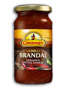 Dutch sambal Conimex Brandal