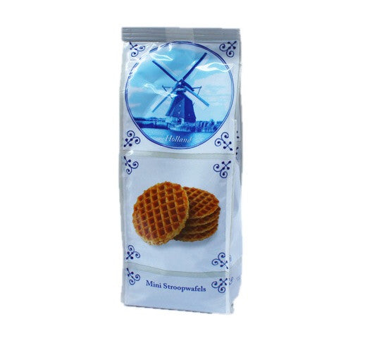 Delft blue mini stroopwafel 8oz