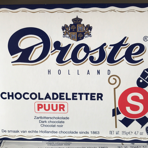 Droste Chocolate letter  Dark (S )135 gr