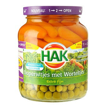 Hak peas&baby carrots 12.3 oz