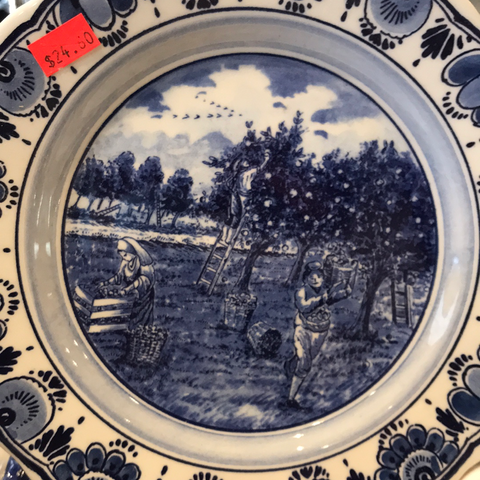 "Breakfast delft Blue 9""plate"