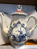 Delft Blue Windmill Tea pot 7""