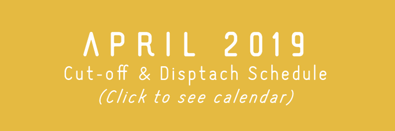 TRC April 2019 Cut-off, Dispatch Schedule, & Updates