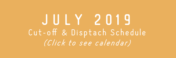 TRC July 2019 Cut-off & Dispatch Schedule