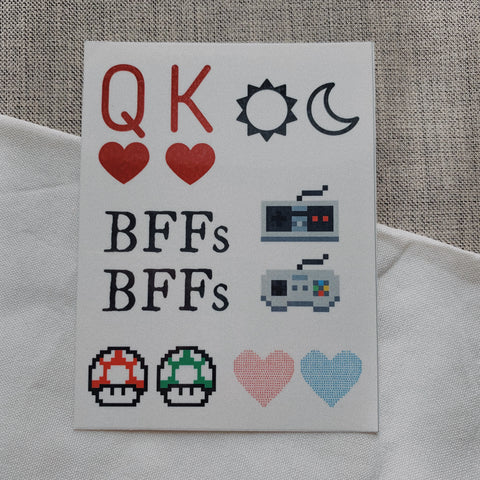 BFF / Couple Temporary Tattoo Pack