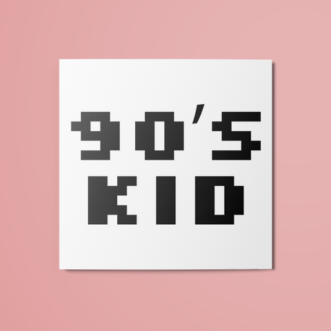 90's Kid Temporary Tattoo