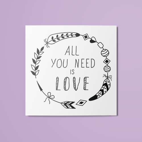 All You Need is Love v2 Temporary Tattoo