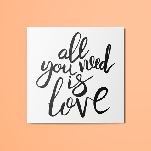 All You Need is Love v1 Temporary Tattoo