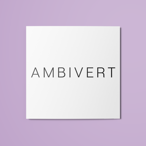 Ambivert Temporary Tattoo