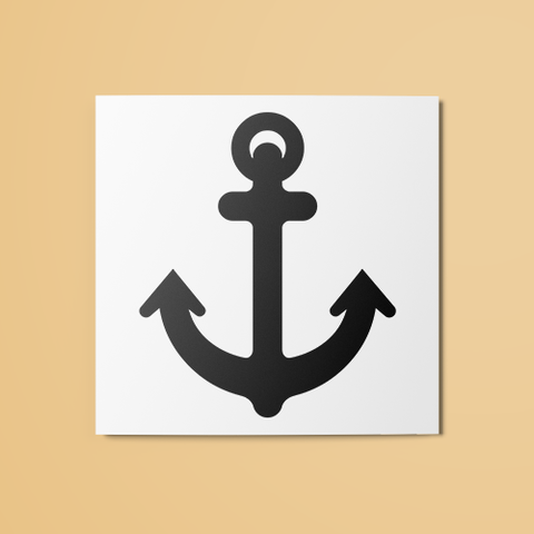 Anchor v1 Temporary Tattoo