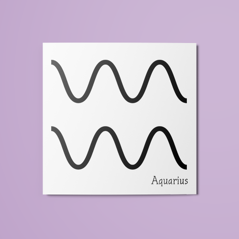 Aquarius Symbol Temporary Tattoo