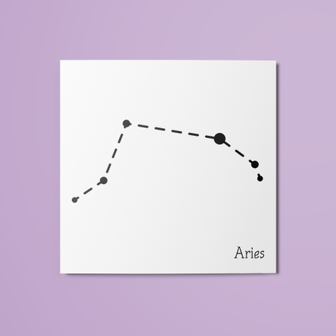 Aries Constellation Temporary Tattoo