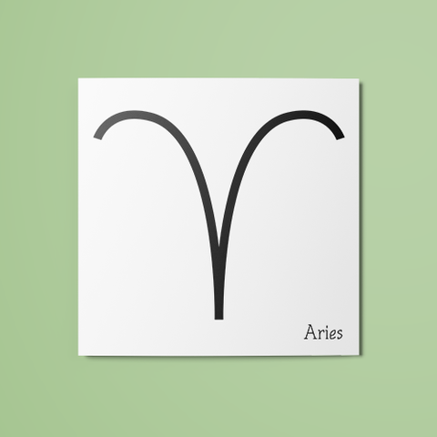 Aries Symbol Temporary Tattoo