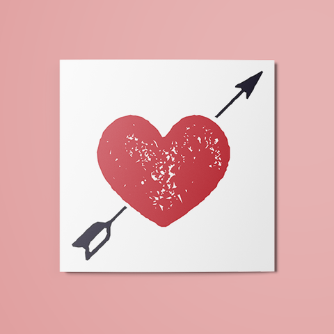 Arrow Through Heart Temporary Tattoo